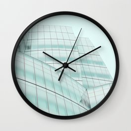 Urban Turquoise Architecture Wall Clock