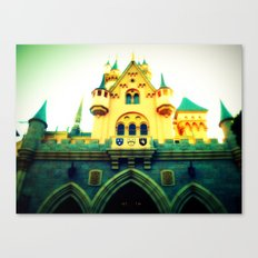Sleeping Beauty Castle Canvas Print