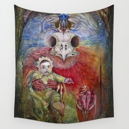 The Surrogate Mother-Goddess of Wisdom holding Alter-Ego Baby Bogomil Wall Tapestry
