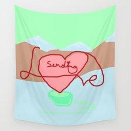 Sending Love Wall Tapestry