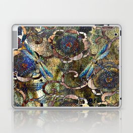 Peonies and Jeweled Dragonflies Pattern Laptop & iPad Skin