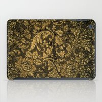 decorative iPad Cases featuring Decorative damask by nicky2342