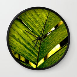 LEAF OF THE PALM Wall Clock