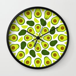 Avocado Mandala Wall Clock