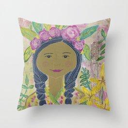 Warrior Spirit Zendaya Rose Throw Pillow