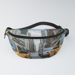 Taxis on New York City Street Fanny Pack