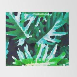 Leaves exotic Throw Blanket