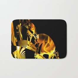 Abstract futuristic instrument Bath Mat