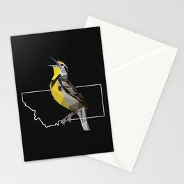 Montana – Western Meadowlark (Black) Stationery Cards