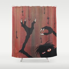 """Finding the Key to Your Heart"" Shower Curtain"