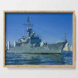 Army Ship in Caribbean Sea, Cartagena - Colombia Serving Tray