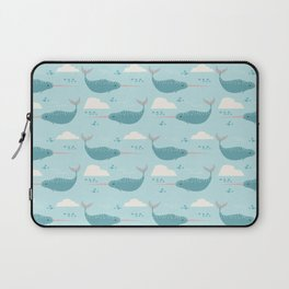 Narwhal blue Laptop Sleeve