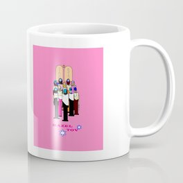A Bat Mitzvah Design with a  Pink Background Coffee Mug