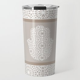 Hamsa in morrocan pattern Travel Mug