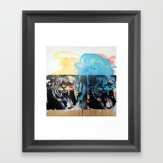 YAWNING TIGERS Framed Art Print