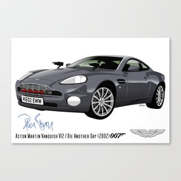 Aston Martin Vanquish V12 from Die Another Day Canvas Print