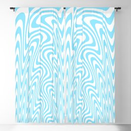 Cyan Squiggles Blackout Curtain