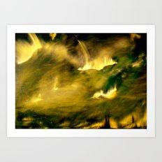 Cosmic eruptions Art Print