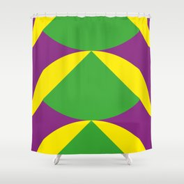 Of course those are Green Beans coming out from Yellow Shells. Happening in a Purple River. Shower Curtain