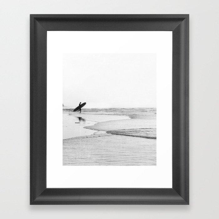 Surfer Gerahmter Kunstdruck