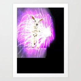 Lamb on the Fire Works Art Print