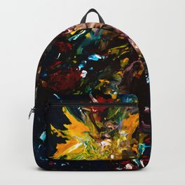 Blooms, deep Backpack