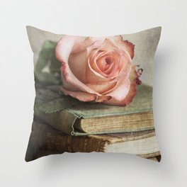 Smell of fresh rose Throw Pillow