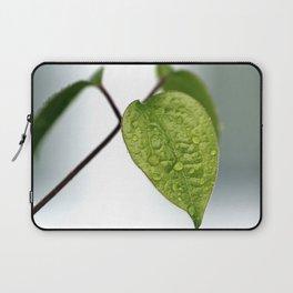 Raindrop Leaves Laptop Sleeve