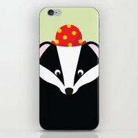 badger iPhone & iPod Skins featuring Badger by onelittledickybird