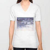 fairy tale V-neck T-shirts featuring Winter fairy-tale by Ivanushka Tzepesh