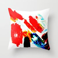 hipster Throw Pillows featuring Hipster  by mcmerriweather
