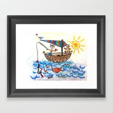 :: Row, Row, Row Your Boat :: Framed Art Print