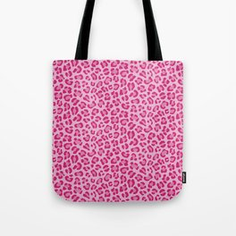 Leopard - Lilac and Pink Tote Bag
