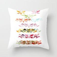 Butterfly arabesque Throw Pillow