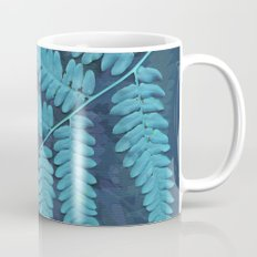 From the forest - light blue on lavender Coffee Mug