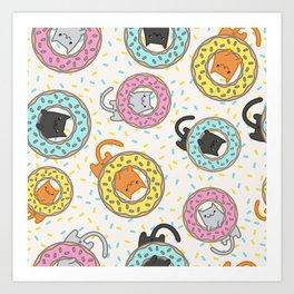 Donut Cat Art Print