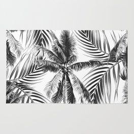 South Pacific palms II - bw Rug