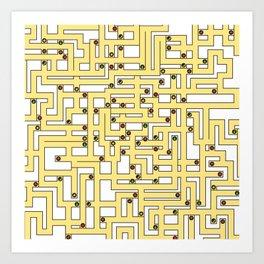 Fruit Maze Art Print