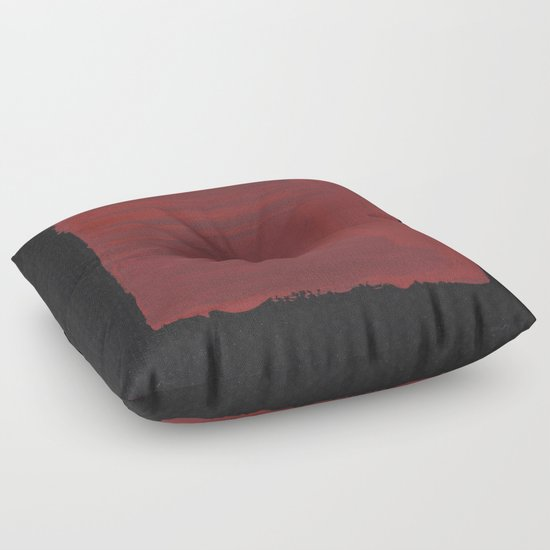 Sideways Red Square Floor Pillow by Peter Draws | Society6