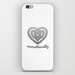 UNCONDITIONALLY in grey iPhone Skin