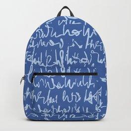 Handwritten Cursive Script Seamless Pattern Backpack
