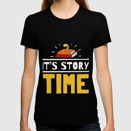 """Librarian"" Design Teacher Its Story Time Bookworm Graphic T-shirt"
