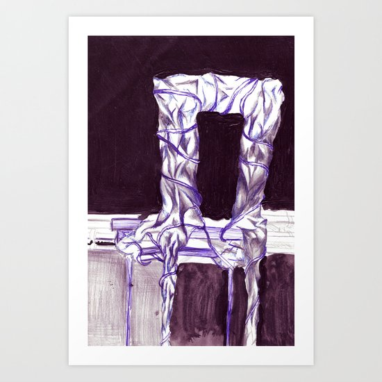sitting with the class  Art Print