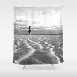 Beach Levitating Shower Curtain