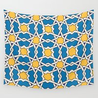 morocco Wall Tapestries featuring Morocco ornament by Galina Khabarova