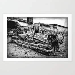 Abandoned Couch Art Print