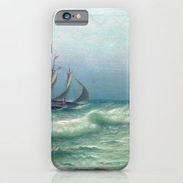 Happyness Of Meeting 1903 By Lev Lagorio   Reproduction   Russian Romanticism Painter iPhone Case