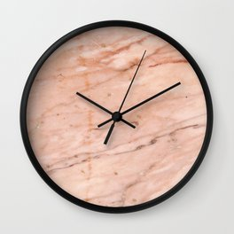 Rose-Gold marble Texture Print Wall Clock