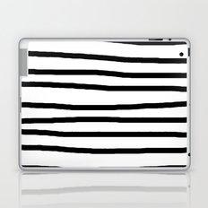 Simply Drawn Stripes in Midnight Black Laptop & iPad Skin