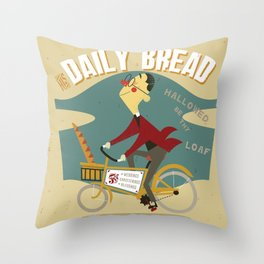 His Daily Bread Throw Pillow